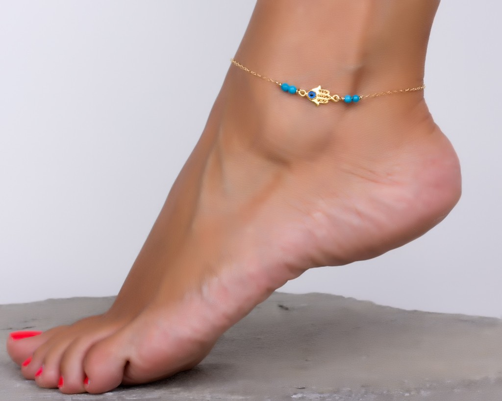 foot jewelry water fashion anklet product bracelet layer hollow plated anklets gold chain beach ankle double