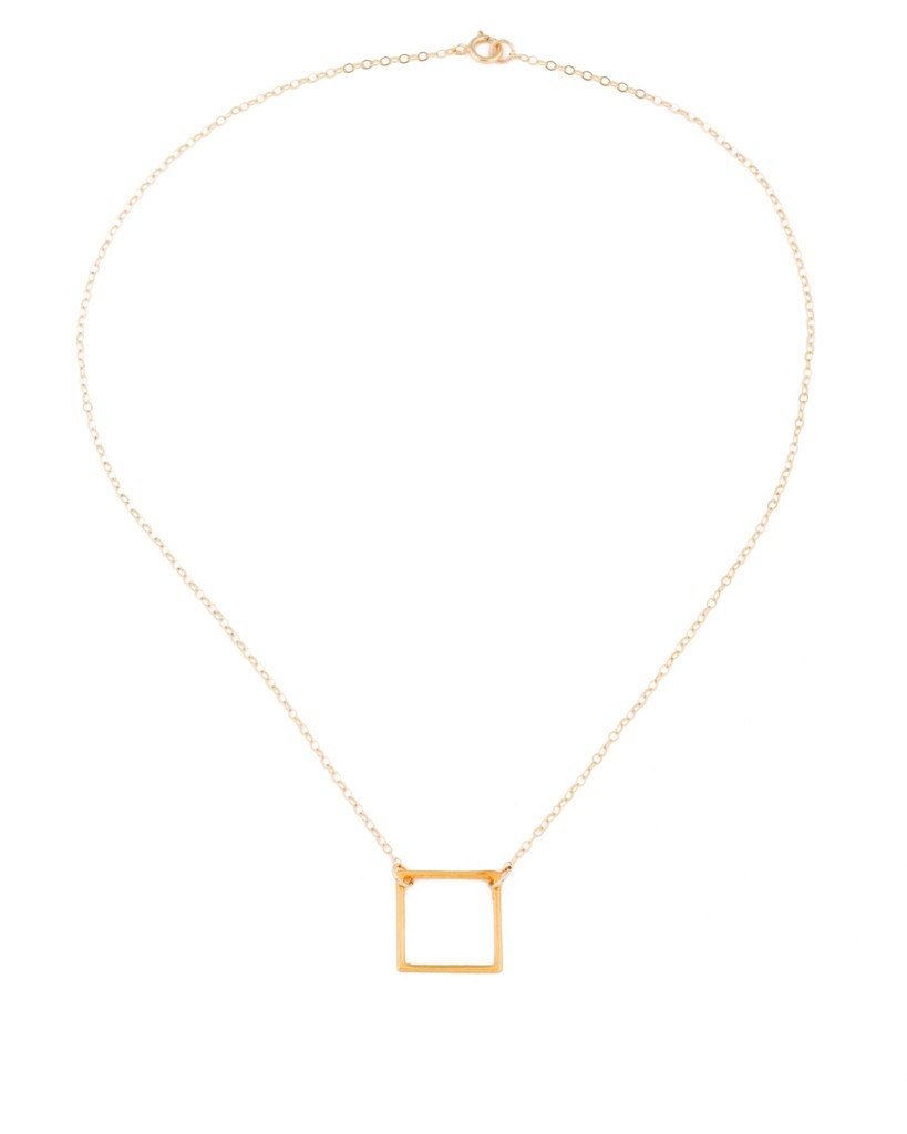 Geometric necklace square pendant mozeypictures Image collections