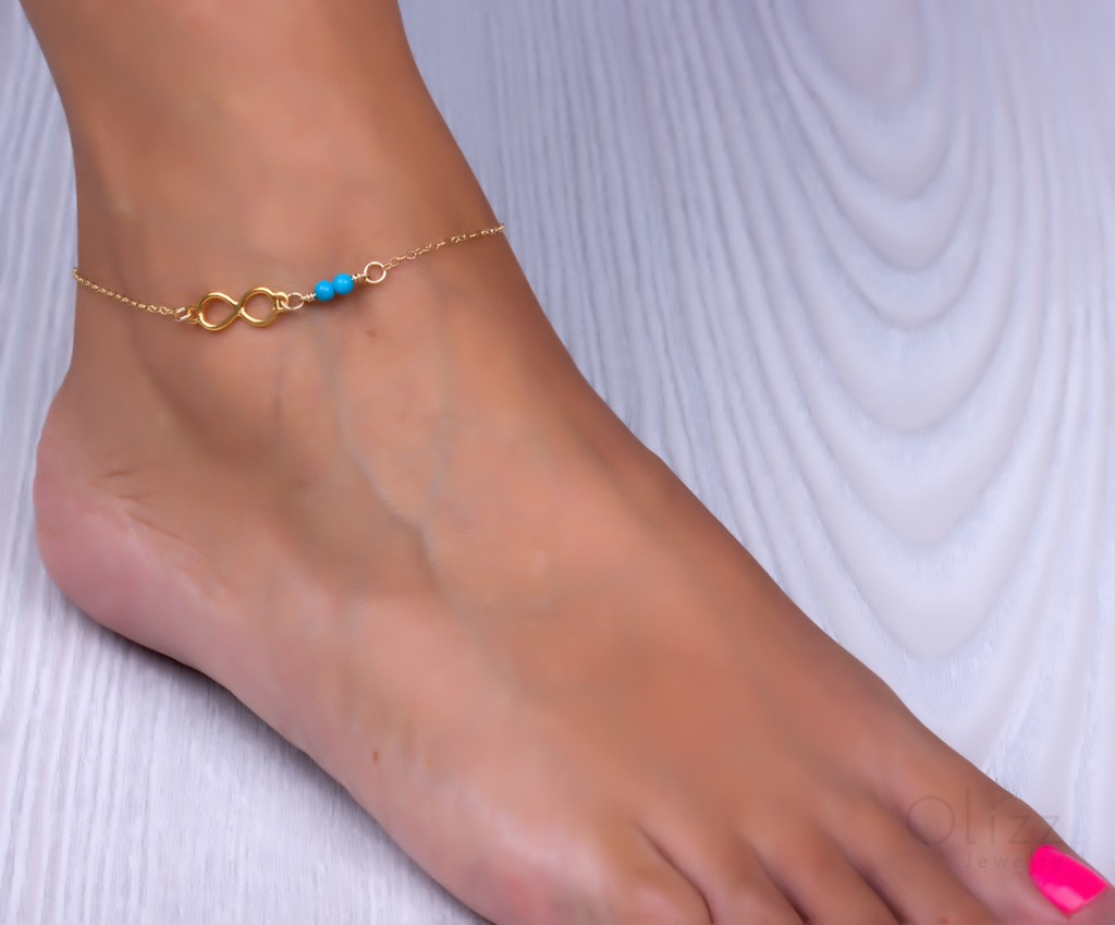 turquoise and bracelets gold anklet snow silver bracelet ankle or fill sterling pin