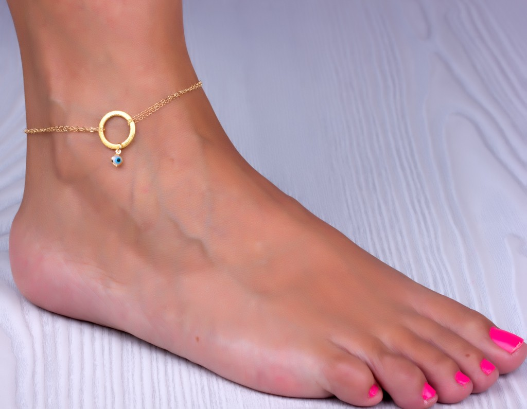 gold cable lobster etsy ankle anklet market solid il chain bracelet