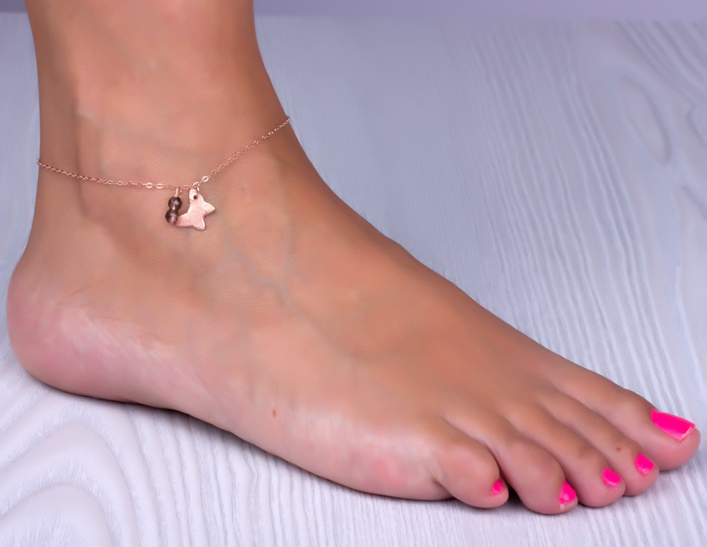 jin anklets fashion beans titanium color item getsubject miss gold round anklet new licensing rose jewelry aeproduct