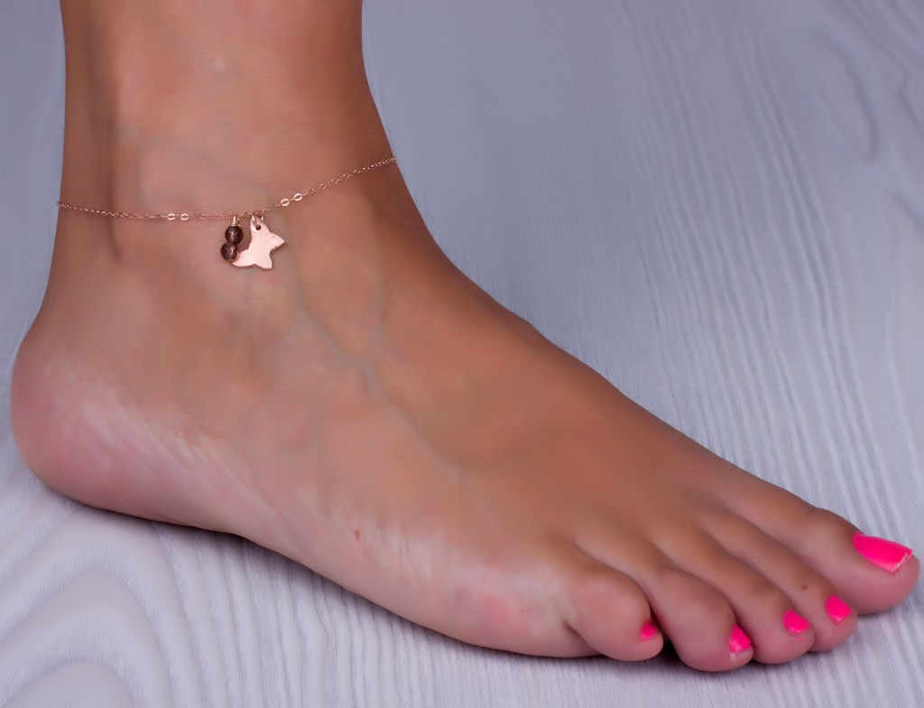 leg plated real bell on jewelry hot from anklets accessories korean anklet heart item cute pendant color in for ankle fashion gold bracelet girl