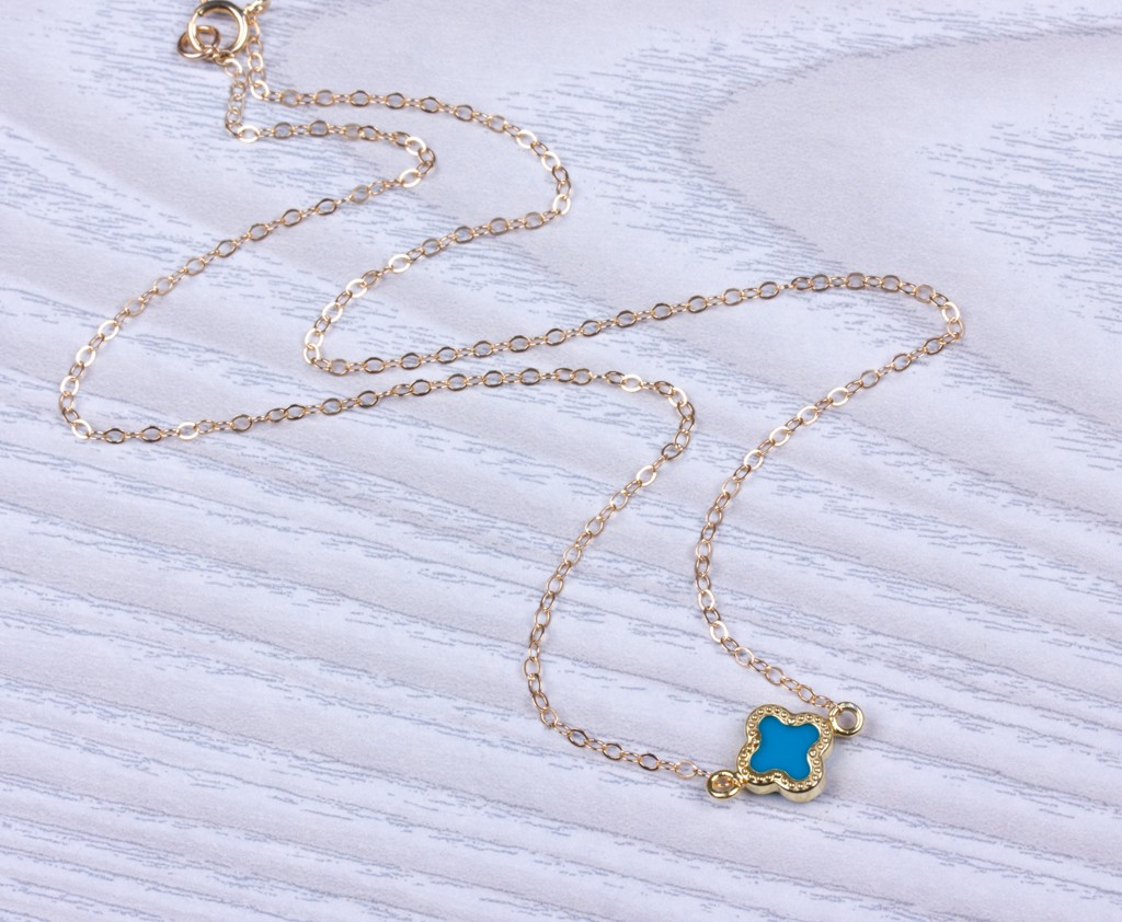 Clover Anklet, Turquoise Anklet, Good Luck Anklet, Foot Jewelry, Gold Ankle  Bracelet