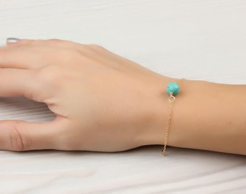 Gemstone Bracelet Turquoise Bracelet Calydonian