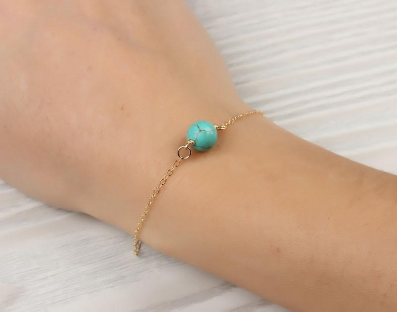 Gemstone Bracelet / Turquoise bracelet | Calydonian