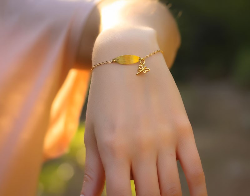 Girly Gold Bracelet Kids Gold Bracelet Dryads