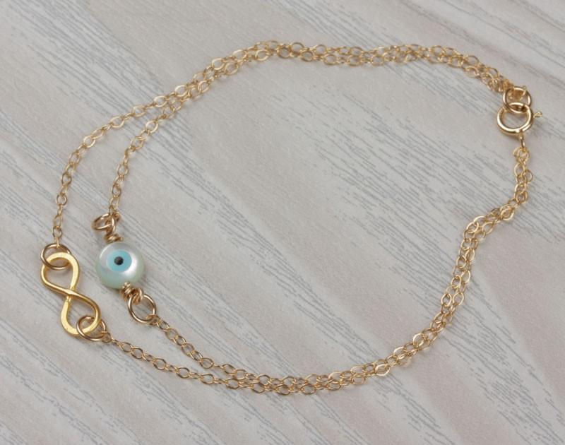 Gold Layered Bracelet / Girls Charm Bracelet   Harpies