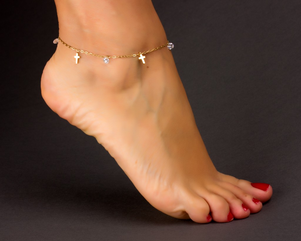 color anklet gold eu bracelet pendant jewelry layer us real item women plated anklets ankle heart vintage from in design double fashion