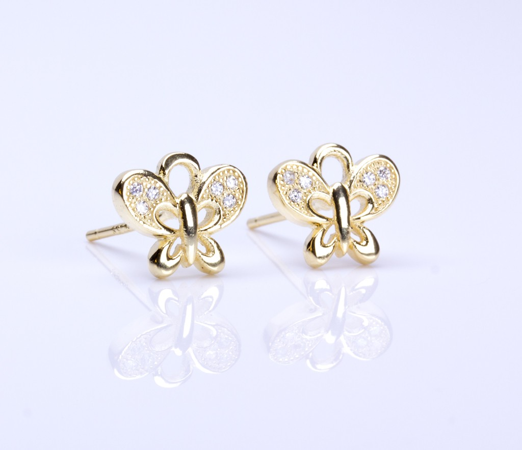 Rose Gold Stud Earrings / Minimalist Gold Jewelry | Leto