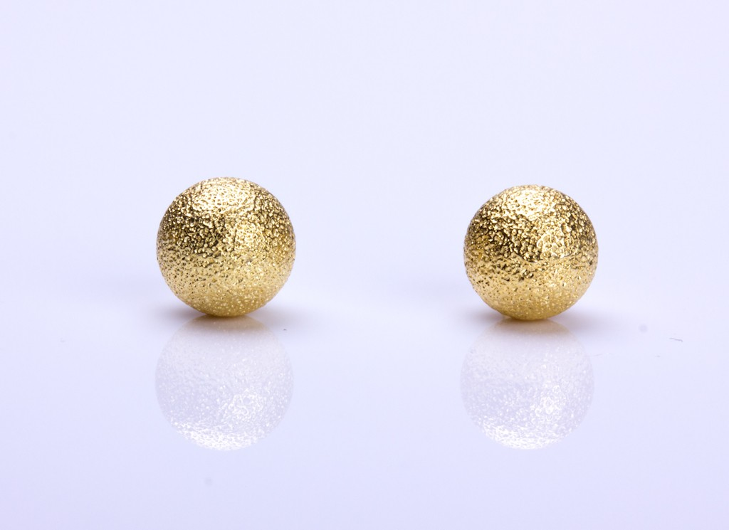 traditional big domed statement quot geometric stud gold for dp studs round lightweight earrings earring half women plated ball silver large