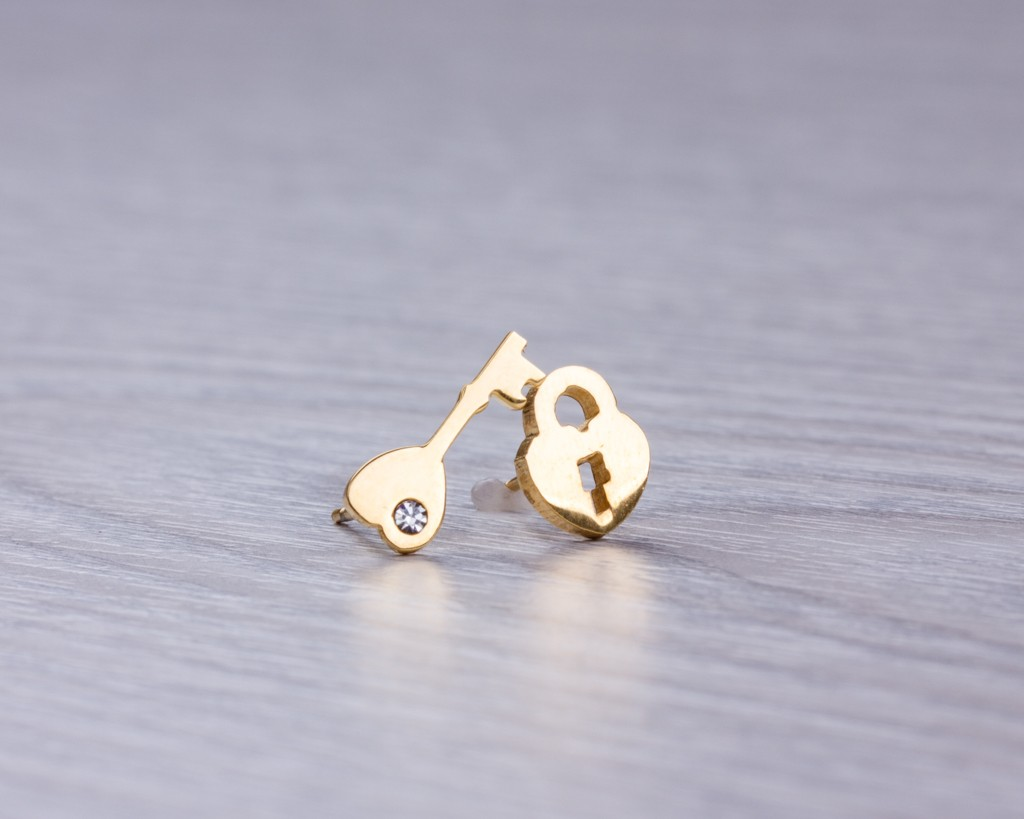 dogeared dipped tiny gold small earrings stud wishbone