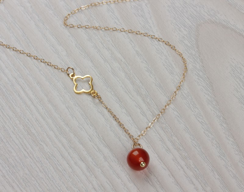 Natural Stone Pendants Carnelian necklace gold clover necklace lucky necklace orange carnelian necklace gold clover necklace lucky necklace orange stone necklace natural stone pendant tiny charm necklace gelus audiocablefo