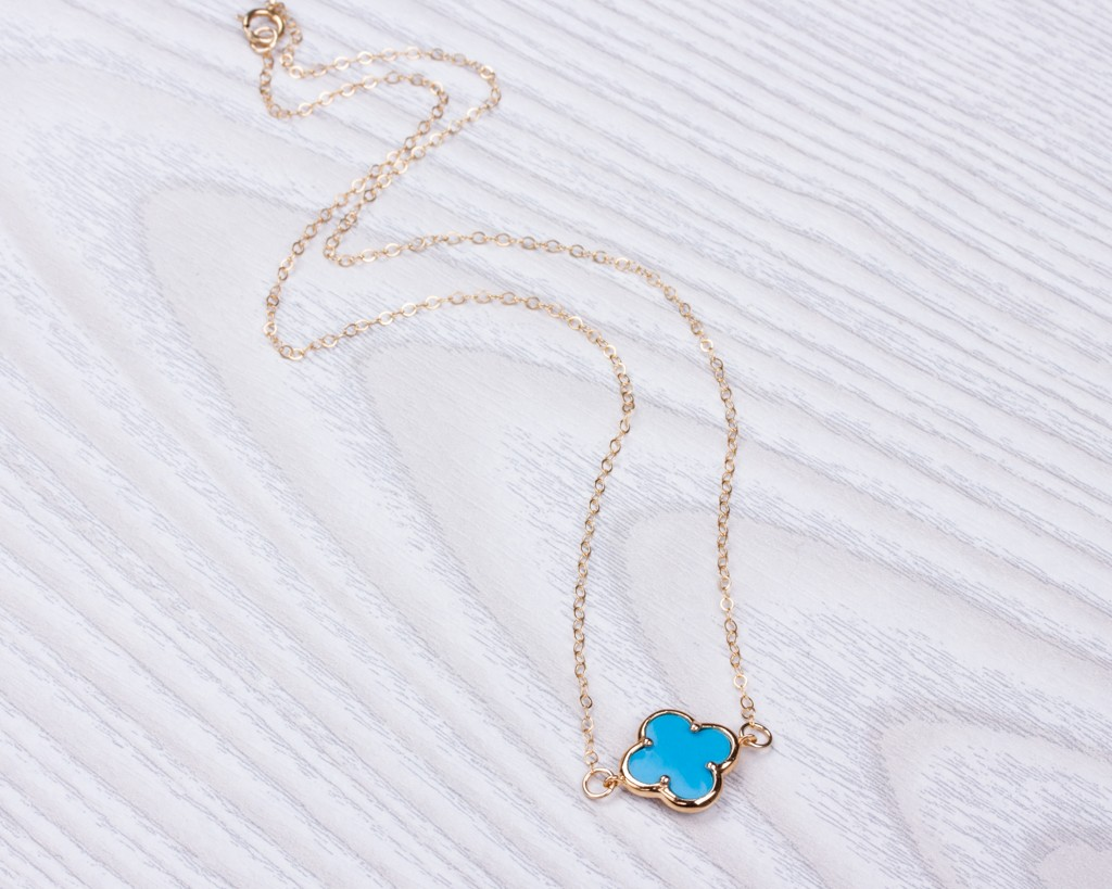 Excellent Turquoise Necklace / Long Gold Necklace   Musica EF54