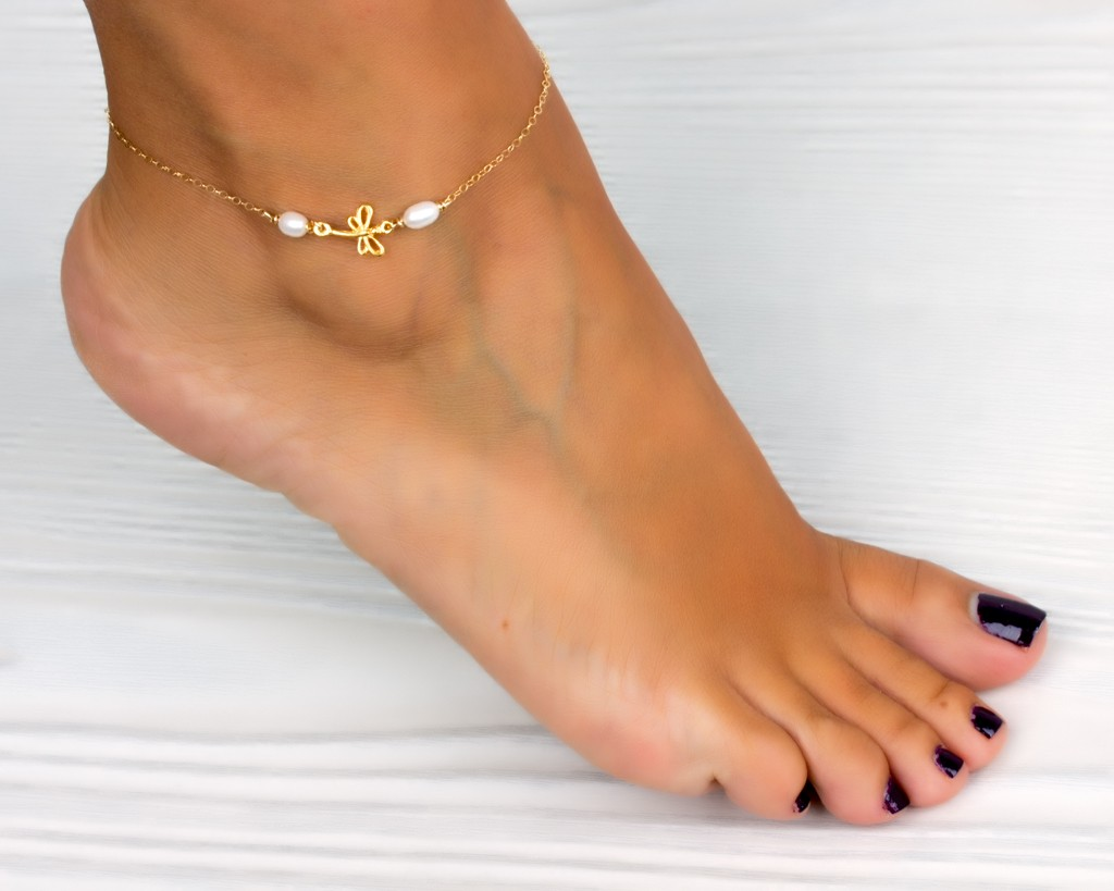 nice jewelry s bracelet sk leg p leaf gold sandal ankle anklet adjustable chain