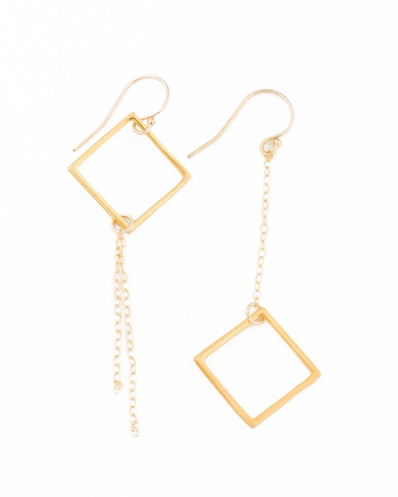 by geometric earrings so solid gold product ohsocherished oh cherished original