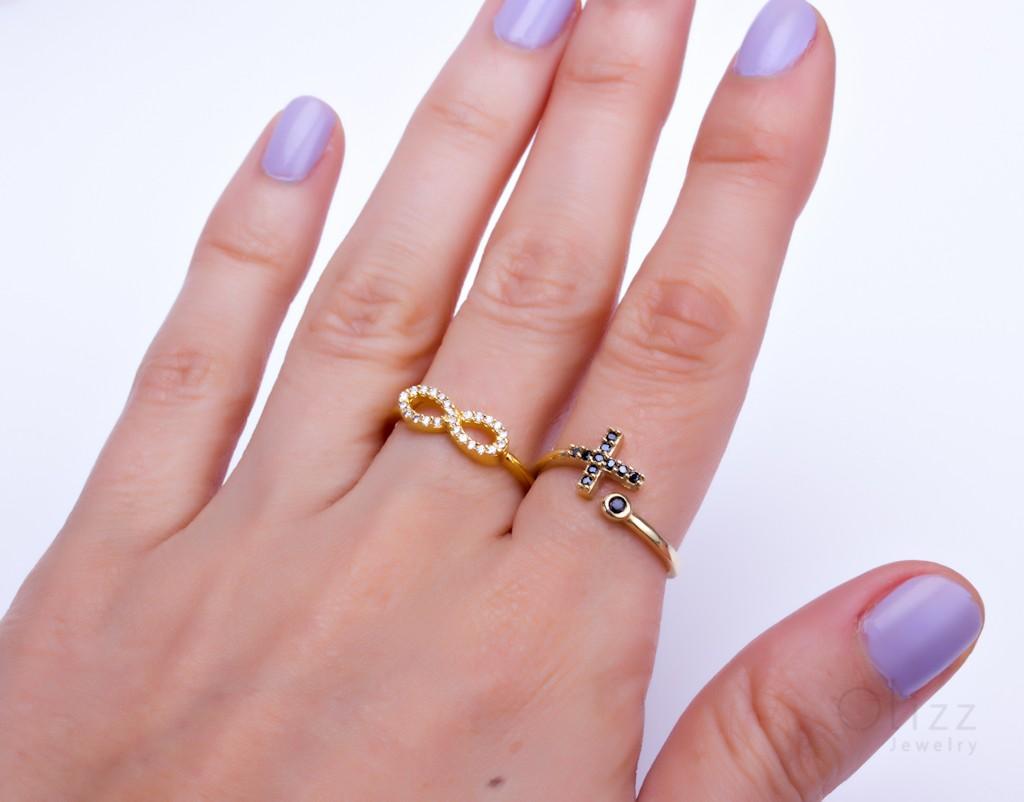 Cross Ring - Gold Ring Women