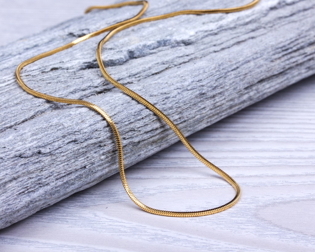 Chain necklace / Gold snake chain necklace | 0212NM