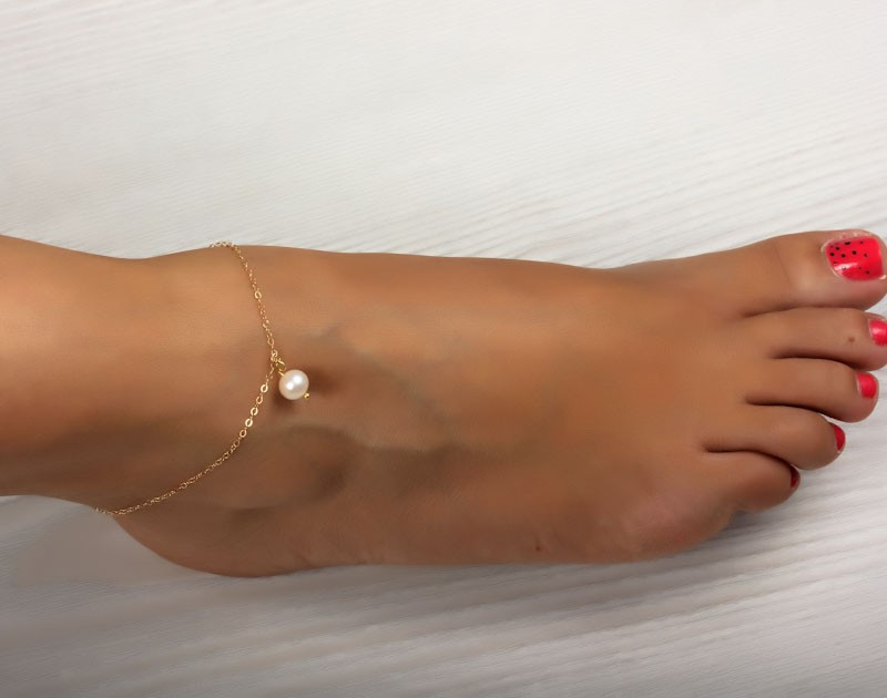 detail product bell gold anklet design with jewelry new eco friendly women jewellery