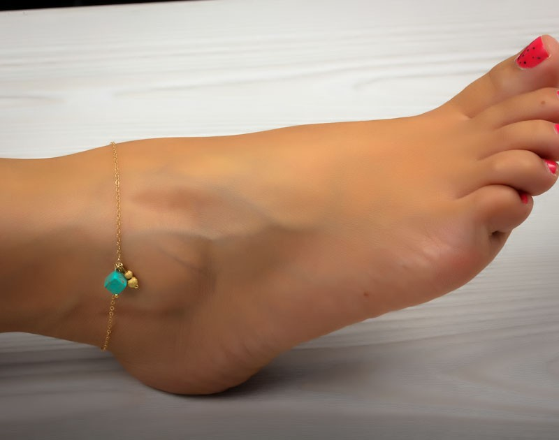 body jewellery with large ankle shani listing bracelet plated leg leaves gold chain anklet