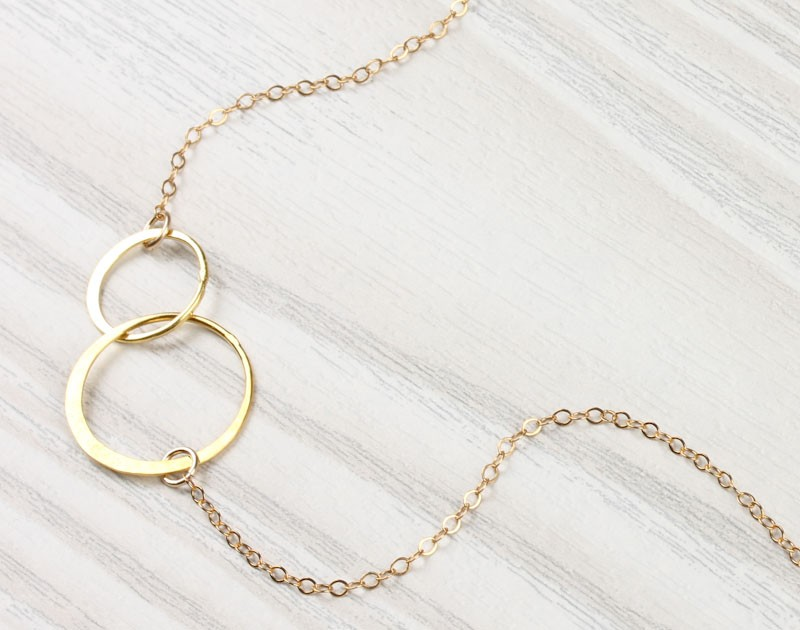 circle necklace infinity necklace two circles