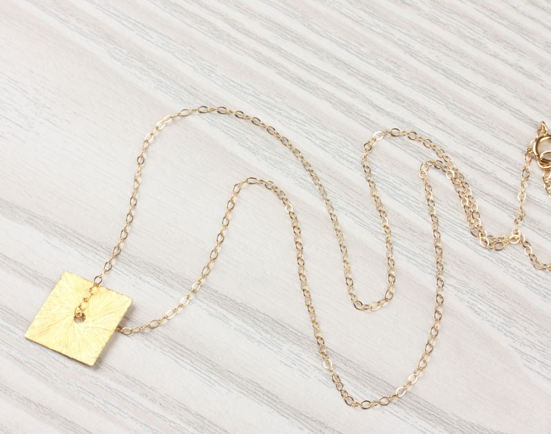 split gold jewelry product shipping watches necklace overstock yellow pendant amo square heart te today chain free wheat and