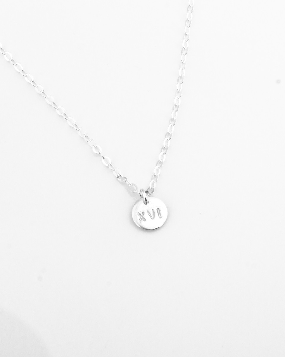 with silver pendantroundcz personalized round necklace pendant sterling small cz