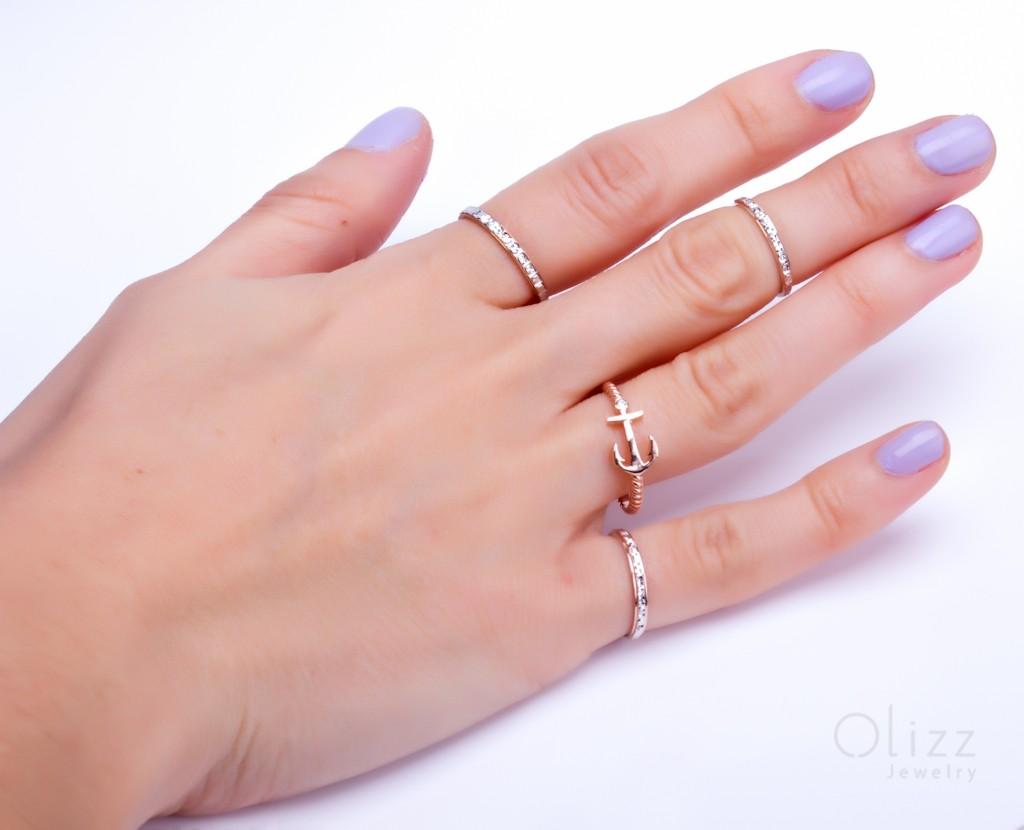 Anchor Ring, rose gold ring