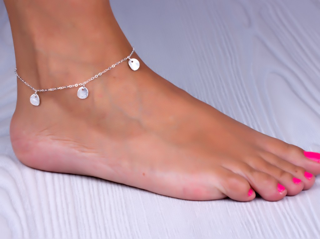 Foot Jewelry Silver Anklet Feet Stheno