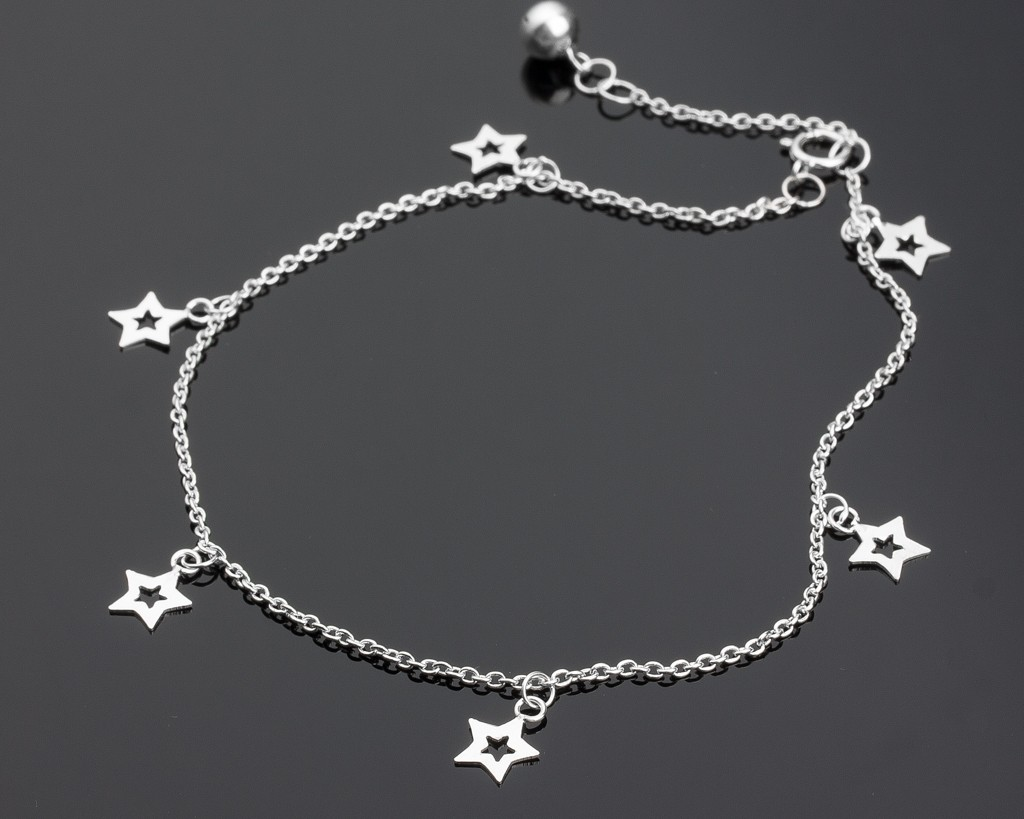 products white inch anklet pop silver sterling diamond bracelet