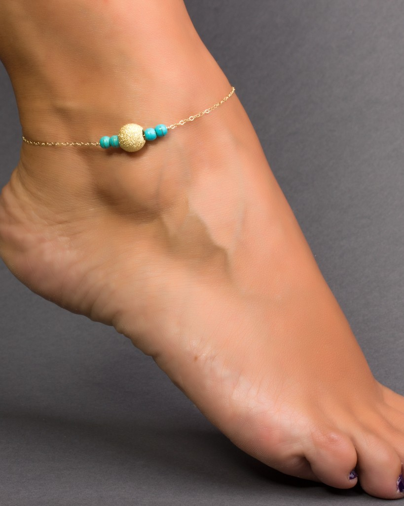 anklet olizz bridal bridesmaid panopia and turquoise ankle infinity bracelet love bracelets jewelry gold