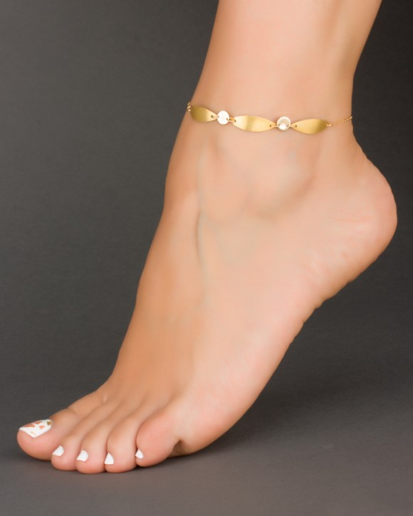 Personalized Anklet • Initial Ankle Bracelet