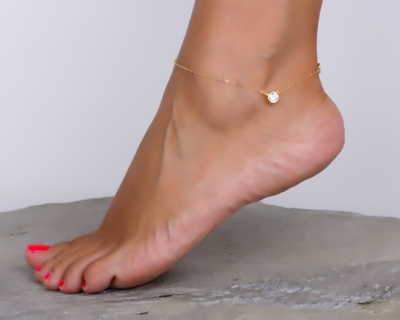 Gold Filled Anklet / Gold Ankle Bracelet |Tethys