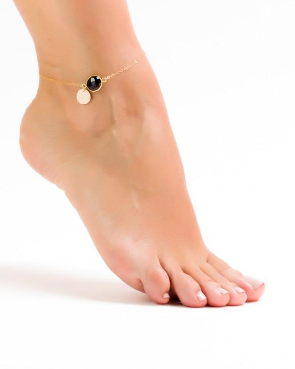 Engraved Anklet