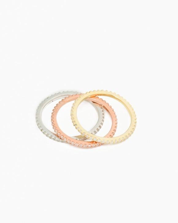 Three Band Ring • CZ Band Rings