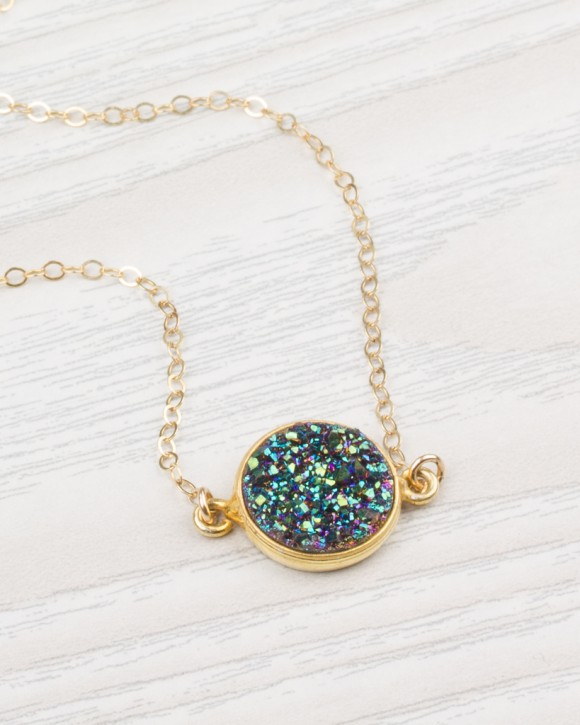 Raw Crystal Necklace - Druzy Necklace
