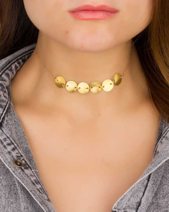 Disc Choker in 14k Gold Filled