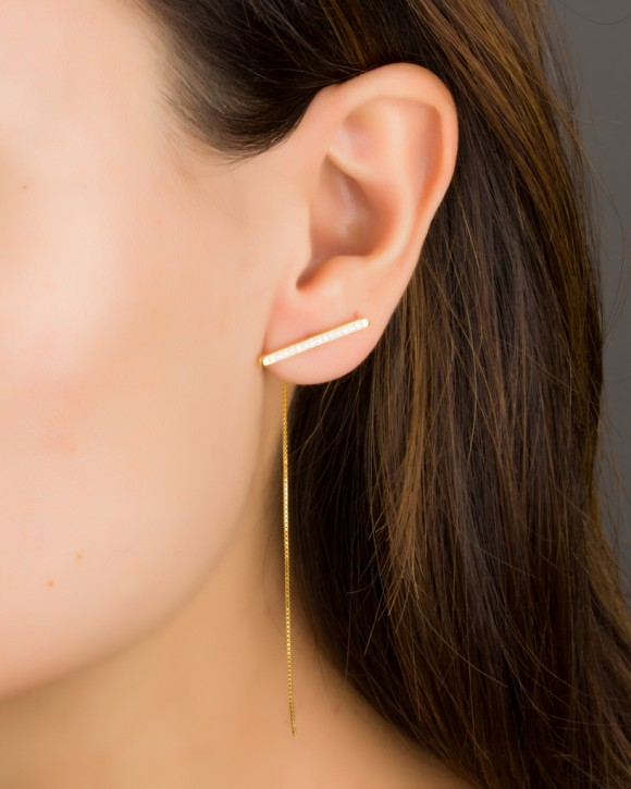 Long Gold Earrings • Chain Earrings