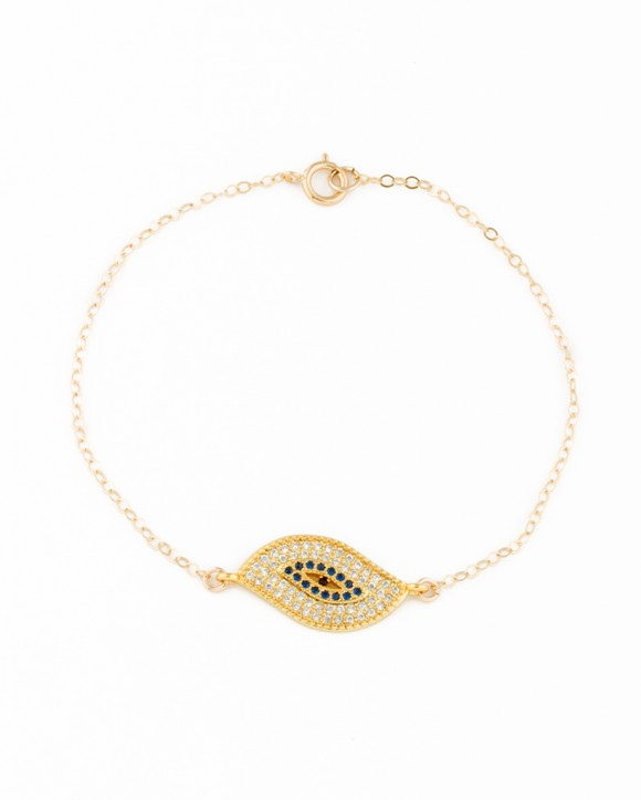 Gold Evil Eye Bracelet - Rose Gold Bracelet