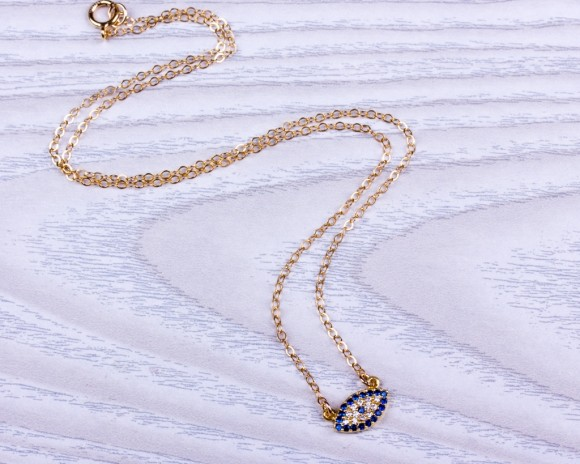 Tiny Evil Eye Necklace • Protection Necklace