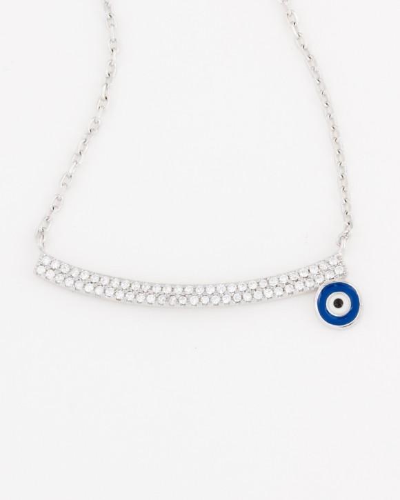 Evil Eye Necklace Sterling Silver