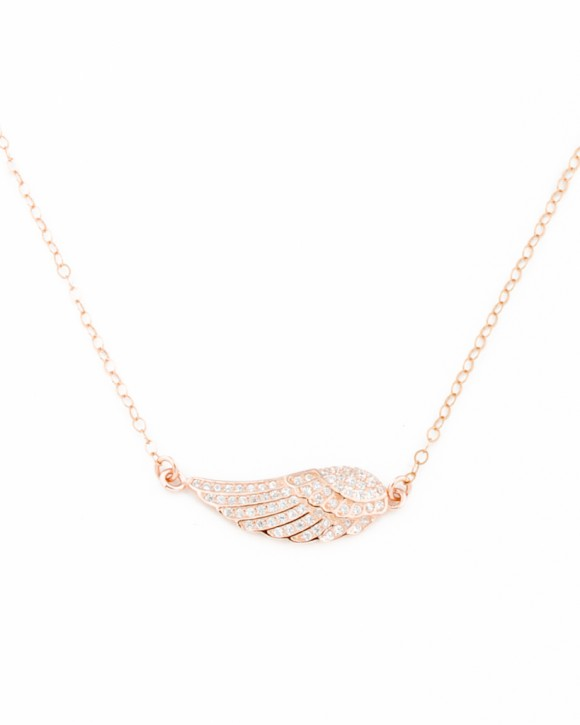 Angel Necklace • Rose Gold Filled Necklace