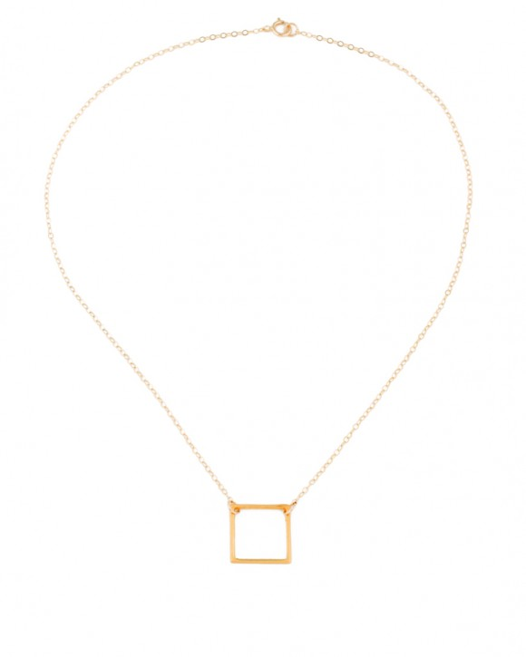 Geometric Necklace • Square Pendant