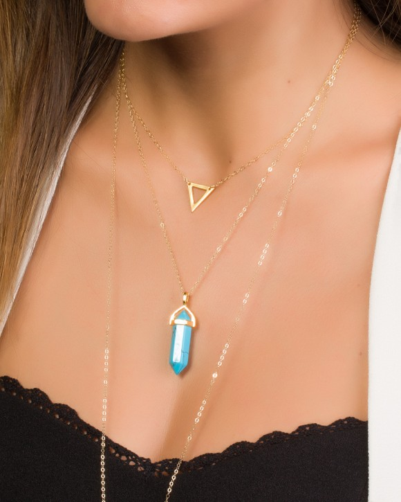 Triangle Necklace • Gold Filled Necklace