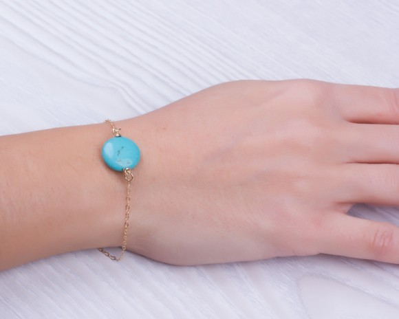 "Turquoise bracelet, gold bracelet, bridesmaid bracelet, silver bracelet, everyday bracelet, gemstone bracelet, simple bracelet, ""AntiopeVol2"