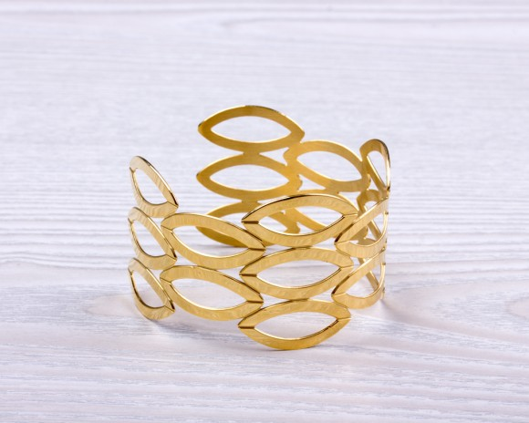 Cuff Bracelet - Gold Bangle Bracelet | Erebus