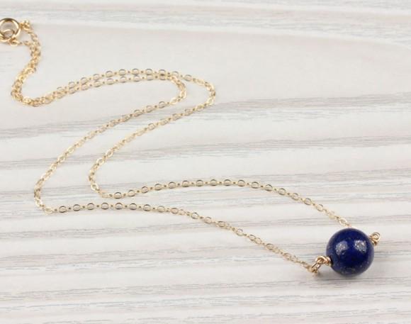 "Lapis bracelet, lapis lazuli bracelet, dark blue jewelry, 14k gold filled bracelet, stone bracelet, bridesmaid bracelet, blue stone, ""Nomia"""