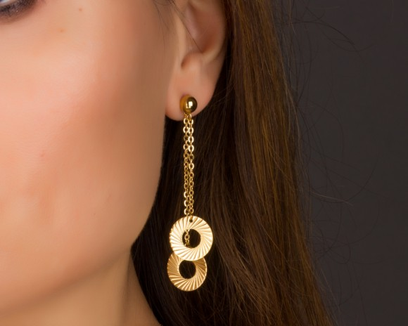 Long Circle Earrings / Boho Earrings