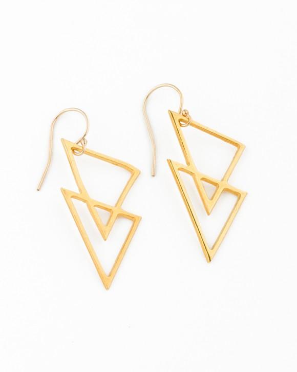 Geometric Earrings • Gold filled Earrings