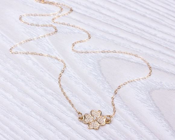 Four leaf clover necklace • Good Luck Necklace