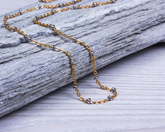 Gold Chain Necklace / Dew Drop Necklace
